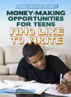 Money-making Opportunities for Teens Who Like to Write