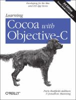 Learning Cocoa with Objective-C : developing for the Mac and iOS app stores