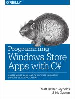 Programming Windows Store Apps With C♯