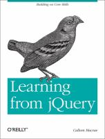 Learning From JQuery