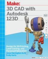 Cover of 3D CAD With Autodesk 123D