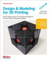 Cover of Design and Modeling for 3D Printing