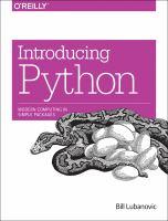 Introducing Python