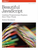 Beautiful JavaScript