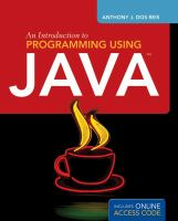 An Introduction to Programming Using Java