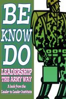 Be, Know, Do