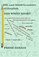 ESL and Adult English Learners Can Write Right!