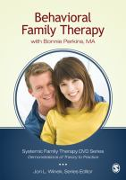 Behavioral Family Therapy