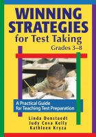 Winning Strategies for Test Taking, Grades 3-8