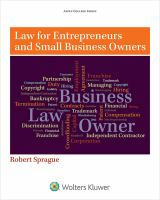 Law for Entrepreneurs and Small Business Owners