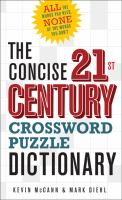 The Concise 21st Century Crossword Puzzle Dictionary