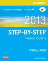 Workbook, 2013 step-by-step medical coding