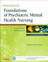 Varcarolis' Foundations Of Psychiatric Mental Health Nursing (7th)