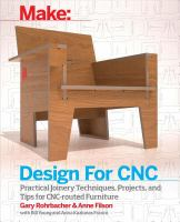 Design for Cnc : Furniture Projects and Fabrication Technique