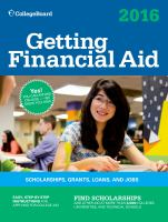 College Board Guide to Getting Financial Aid 2016