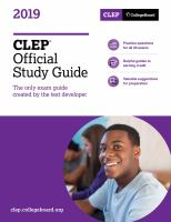 CLEP Official Study Guide, 2019