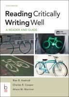 Reading Critically Writing Well (10th)