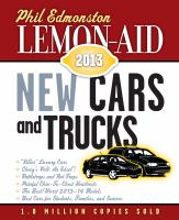 Lemon-aid 2013 New Cars and Trucks