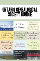 Ontario Genealogical Society 12-book Bundle