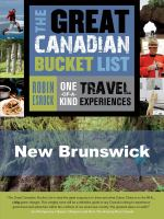 The Great Canadian Bucket List - New Brunswick