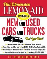 Lemon-aid New and Used Cars and Trucks, 1990-2016