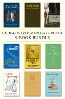 Undiscovered Mazo De La Roche 9-book Bundle