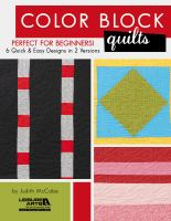 Color block quilts