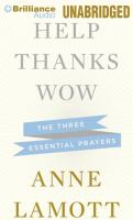 Help, thanks, wow the three essential prayers
