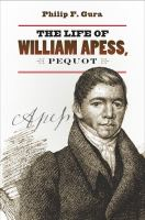 The Life of William Apess, Pequot
