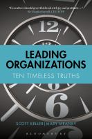 Leading Organizations : Ten Timeless Truths