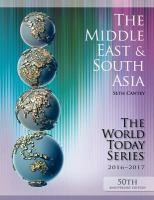 The Middle East And South Asia 2016-2017