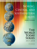 Nordic, Central, and Southeastern Europe 2017-2018