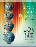 Russia and Eurasia 2017-2018