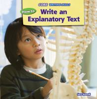 How to Write An Explanatory Text