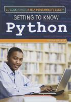 Getting to Know Python