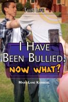 I Have Been Bullied.  Now What?