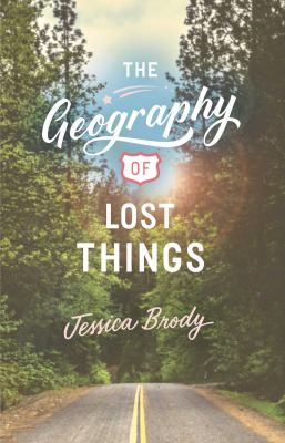 A book cover for The Geography of Lost Thongs shows a road with trees on either side