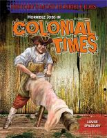 Horrible Jobs in Colonial Times