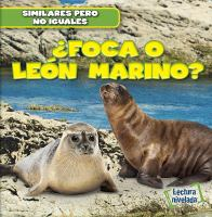 ¿Foca o león marino?