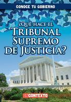 Que hace el Tribunal Supremo de Justicia?