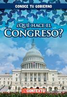 Que hace el Congreso?