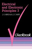 Electrical and Electronic Principles 3 Checkbook