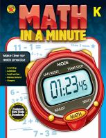 Math in A Minute, Grade K