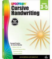 Spectrum Cursive Handwriting: Grades 3-5