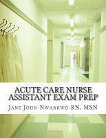 Acute Care Nurse Assistant Exam Prep