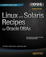 Linux and Solaris Recipes for Oracle DBAs