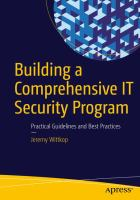 Building A Comprehensive IT Security Program