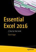 Essential Excel 2016