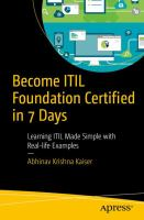 Become ITIL' Foundation Certified in 7 Days