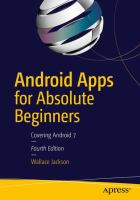 Android Apps for Absolute Beginners